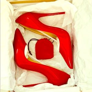 Christian Louboutin So Kate 120 Red Patent Leather